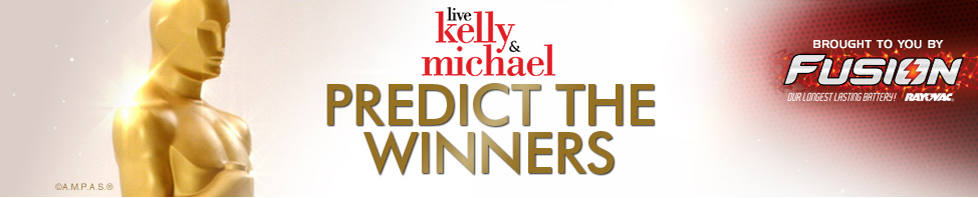 Live with Kelly and Michael Predict the Winners | Brought to you by Fusion, our longest lasting battery! Rayovac
