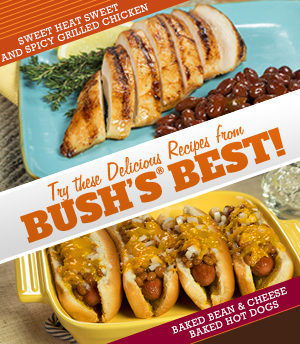Sweet Heat Sweet and Spicy Grilled Chicken    Try these Delicious Recipes from Bush's ® BEST!